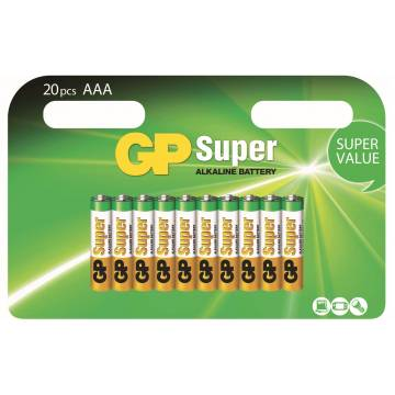Blister 20 Batterie AAA Ministilo GP Super