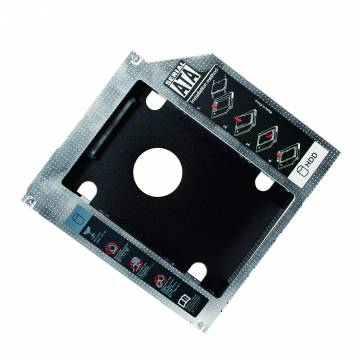 Adattatore SATA HDD Caddy per HDD/SSD da 9,5mm Nero