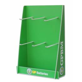 Espositore Stand da Banco in Plastica Batterie GP