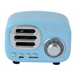Speaker Bluetooth Wireless, Design Radio Classico, azzurro