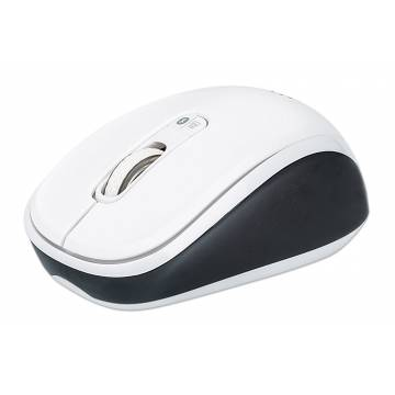 Mouse Dual-Mode Bluetooth e Wireless 2.4 GHz Bianco