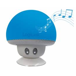 Mini Altoparlante Bluetooth Mushroom Blu